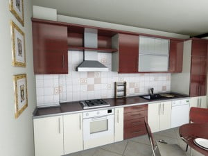 L mutfak dolabı için dekorasyon