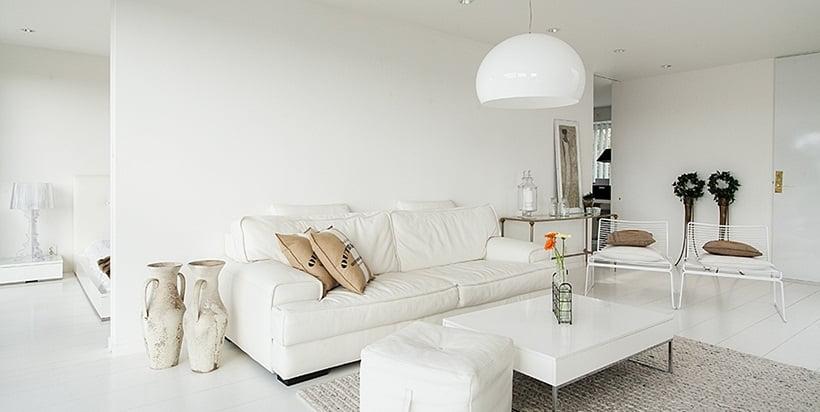 beyaz modern dekorasyon fikirleri