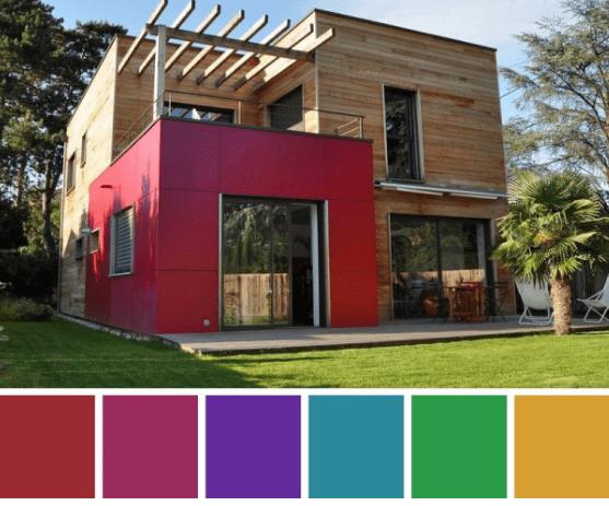 dış cephe boyalı evler