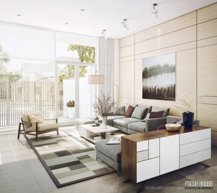 Oturma Odası Dekorasyonu (9)