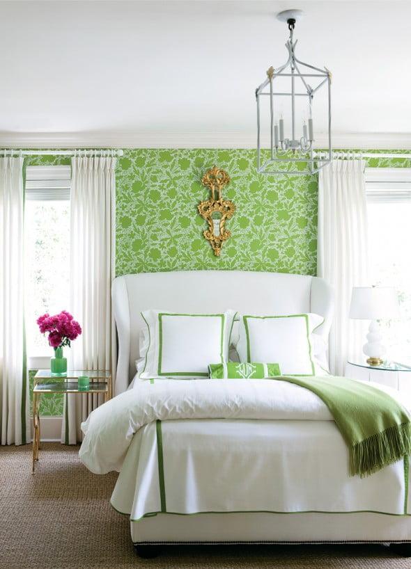 Yeşil Beyaz Yatak Odası (10)