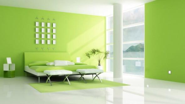 Yeşil Beyaz Yatak Odası (14)