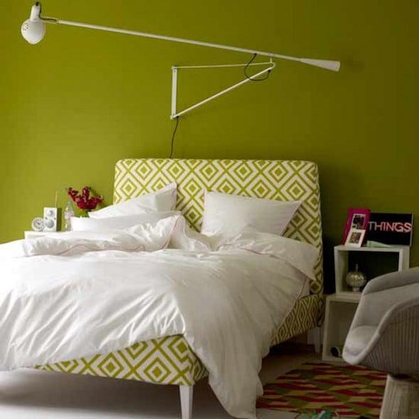 Yeşil Beyaz Yatak Odası (16)