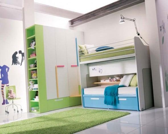 Yeşil Beyaz Yatak Odası (18)
