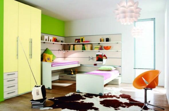 Yeşil Beyaz Yatak Odası (20)
