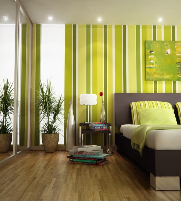 Yeşil Beyaz Yatak Odası (3)