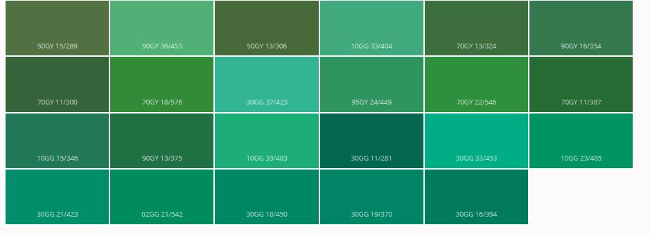 Marshall Boya Renkleri Yeşil Tonu