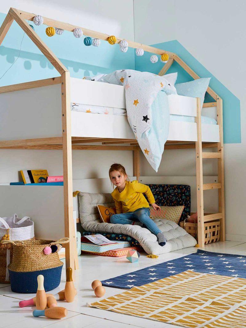 Çocuklar için yüksek kabin yatak