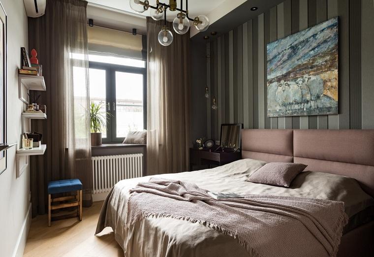 küçük bir yatak odası koyu renkler yatak odası fikirleri nasıl dekore edilir
