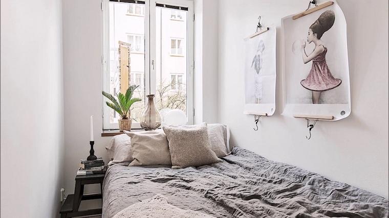 küçük bir yatak odası paleti-renkler-beyaz nasıl dekore edilir