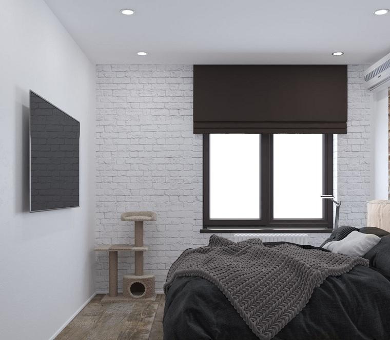 bir yatak odası-küçük beyaz-duvarları nasıl dekore edilir