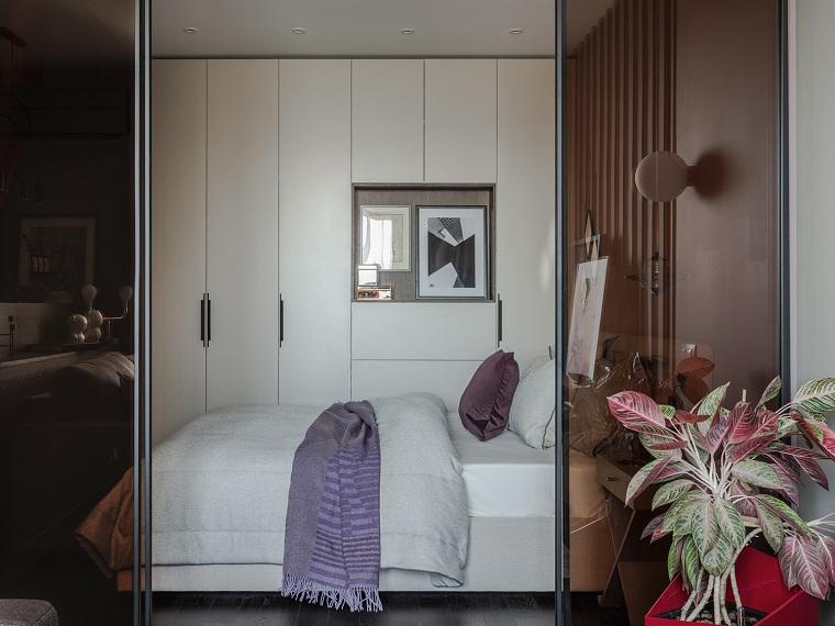 yatak odası-küçük tarzı-moda