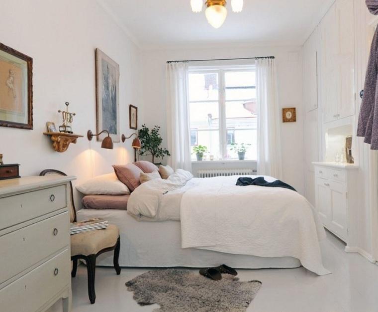 dekorasyon-yatak odası-küçük-beyaz