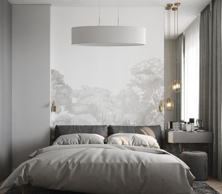 küçük gri yatak odası nasıl dekore edilir