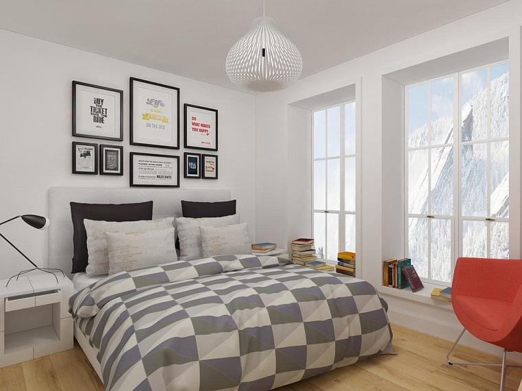 küçük bir yatak odası-duvar-dekorasyonu-nasıl-dekore