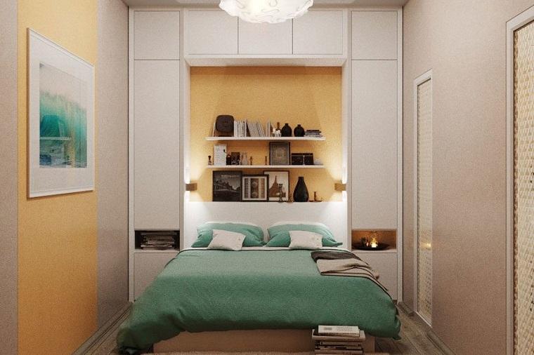 küçük yatak odası duvar mobilyası nasıl dekore edilir