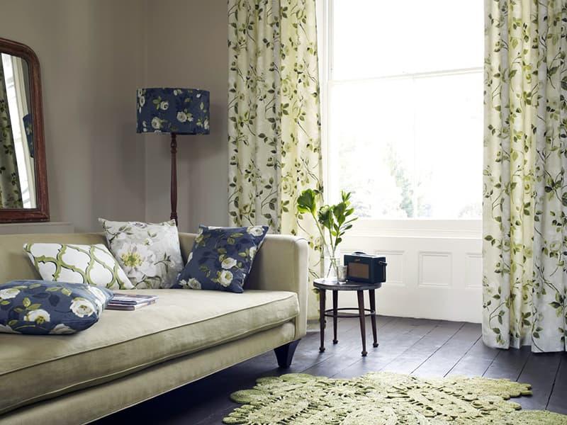 Tekstil ile apartman odası dekorasyonu