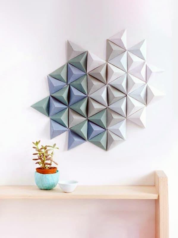 Oda dekoru olarak el yapımı kağıt ürünleri