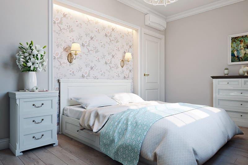 Odanın dekorunda ışık paleti