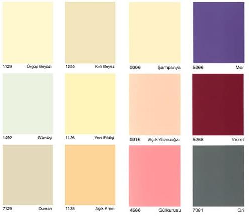 DYO Renk Kataloğu