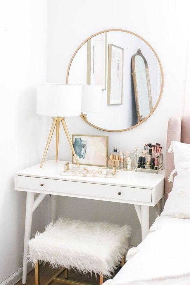 Tuvalet masasini dekore etmek icin fikirler Farkli dekoratif stiller