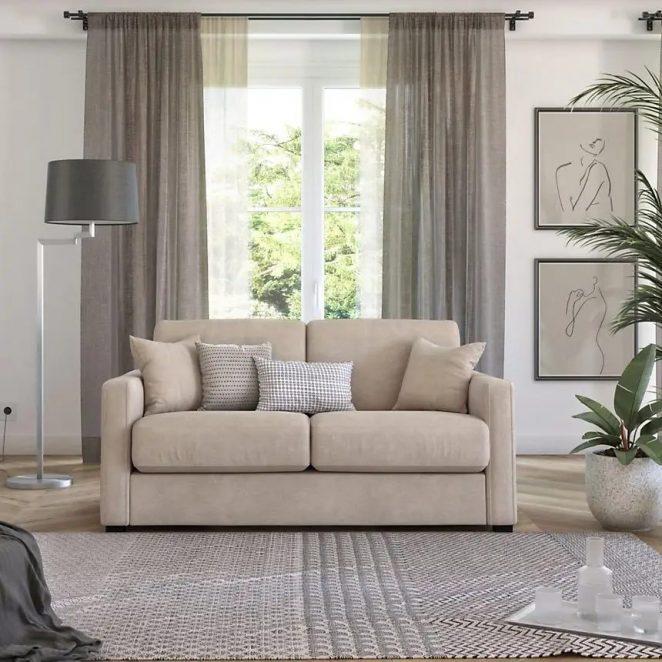 Bu kumaş koltuk, espresso açma sistemi ve günlük uyumak için ideal olan 14cm şilte ile donatılmıştır.