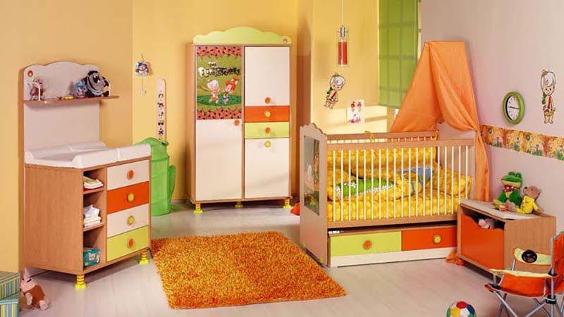 cilek-turuncu-mobilyali-Bebek-odası-takımi-modeli