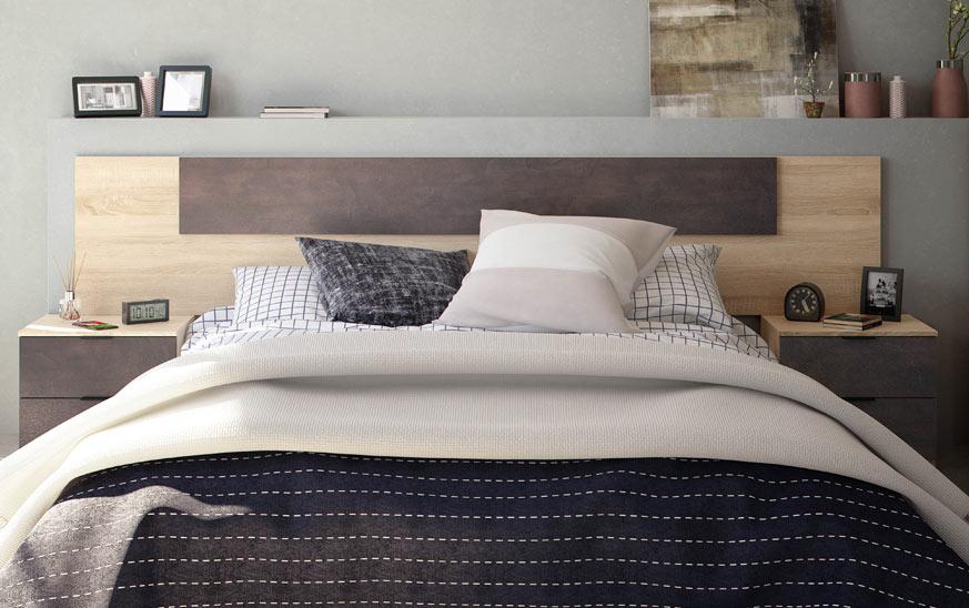 Endüstriyel tarzda bir yatak başlığı için başka bir fikir.