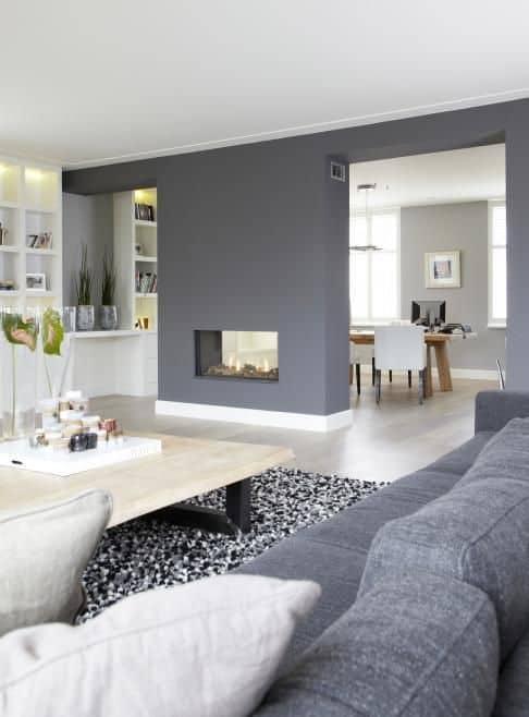 12-Oturma odanızdaki duvarı bölen avantajlardan yararlanın