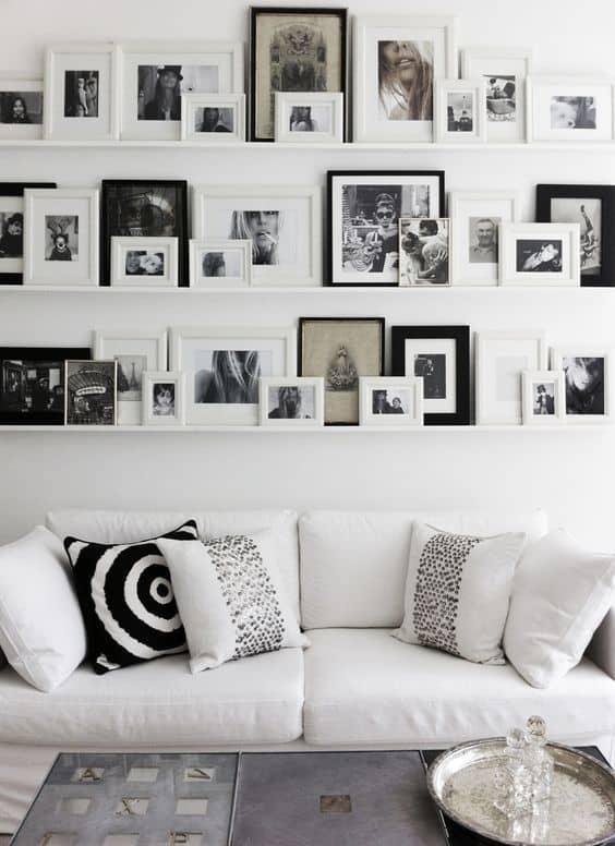 Resimlerinizi düzenlemek için raflar yerleştirin