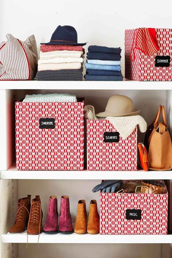 Raflarınızı kutularla optimize edin