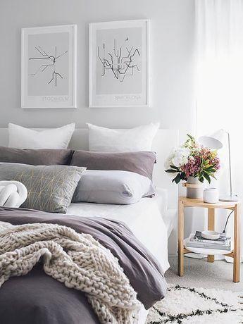 4-beyaz-gri-bir yatak odası