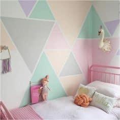 Duvarlarda geometrik şekiller oluşturun