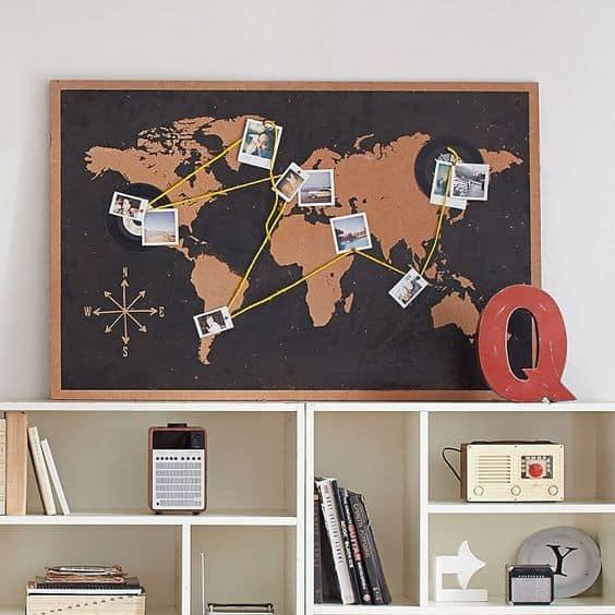 Bir haritayı seyahat fotoğraflarıyla birleştirin