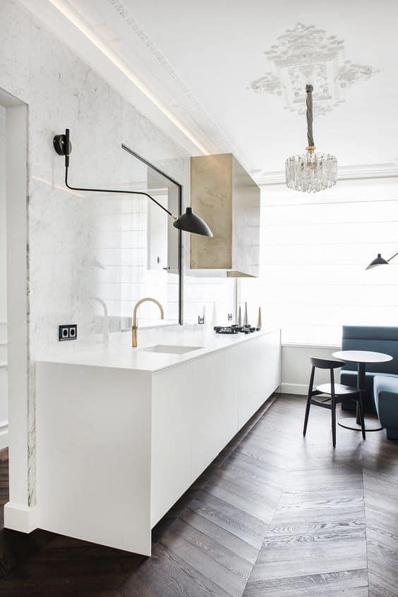 Vintage ve modern stili ışıklar aracılığıyla birleştirin