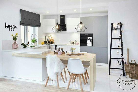 Yemek odasını mutfağa entegre edin