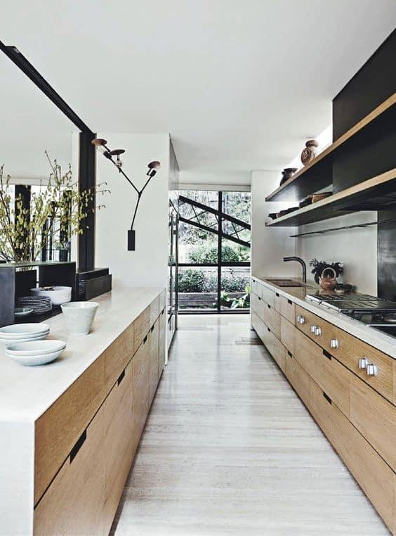 Mutfağı bir geçiş alanı olarak kullanın