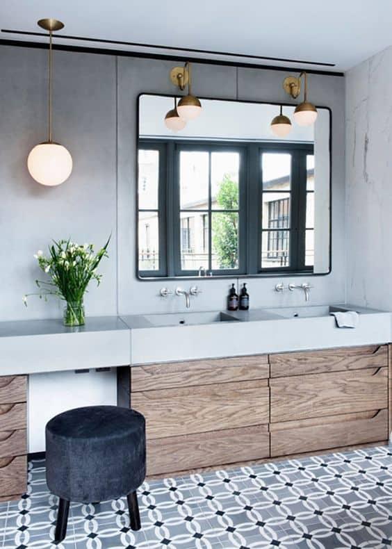 Işık stilini banyoyla uyumlu hale getirin