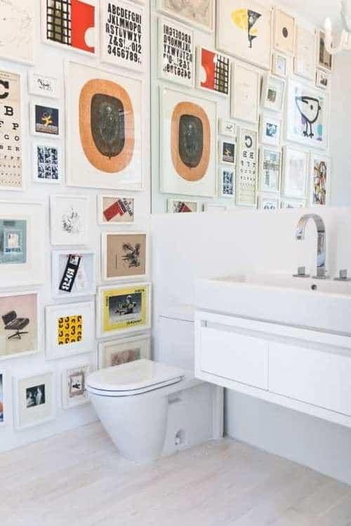 Renkli resimlerle odak duvarı yapın