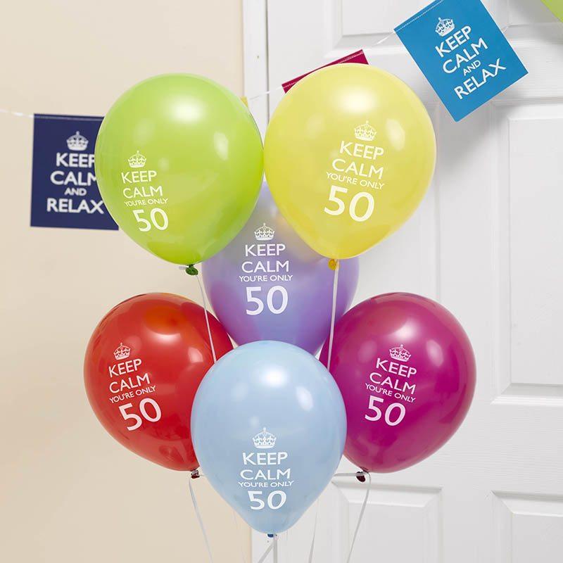 50 yıllık balonları süslemek için fikirler