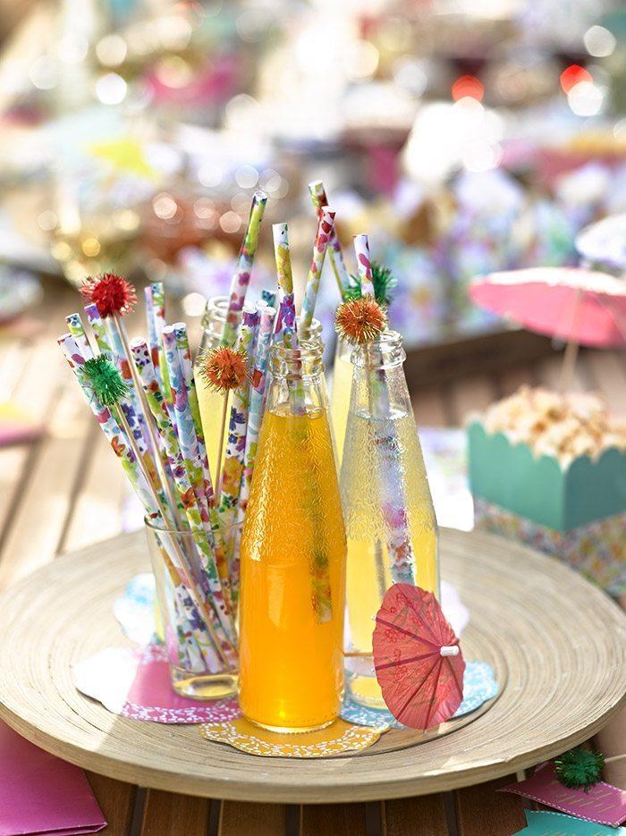 orijinal doğum günü partileri dekore edilmiş içecekler