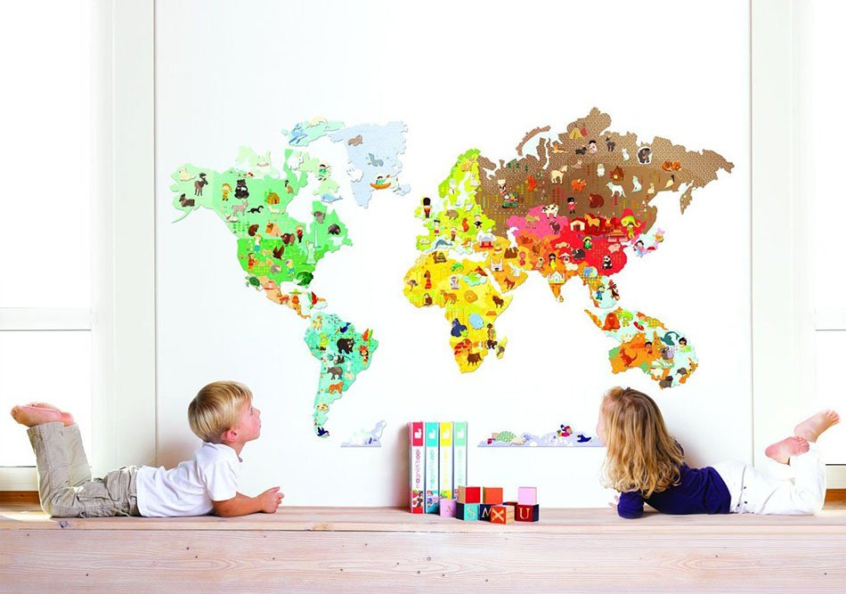 Çocuk odasını dekore etmeyi öğreten duvarları seçin