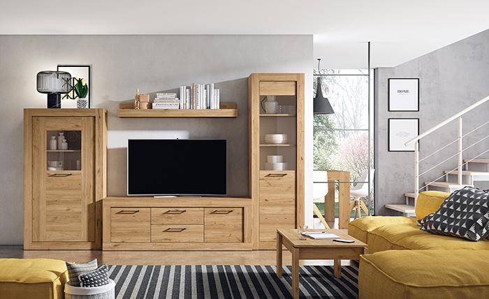 Modern rustik oturma odası mobilya takımı