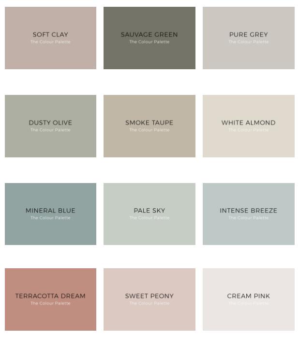 Kenay Home ve Bruguer The Color Palette Renk Kartelası