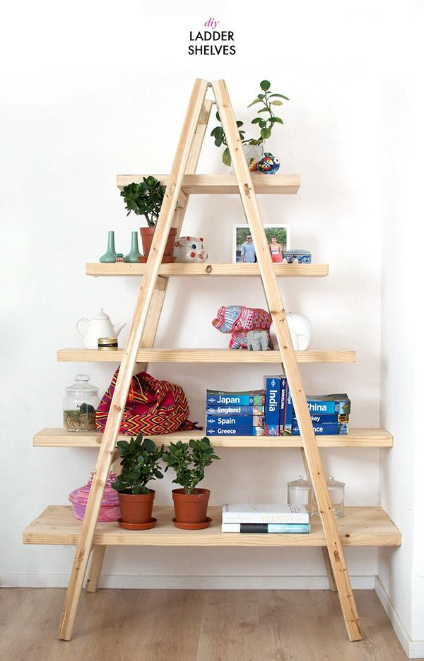 DIY merdiven rafı