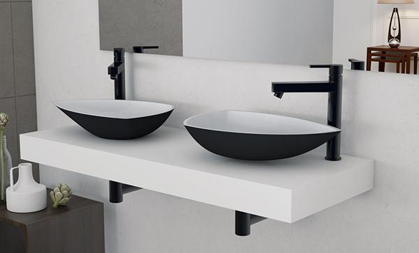 Siyah modern tasarım lavabo