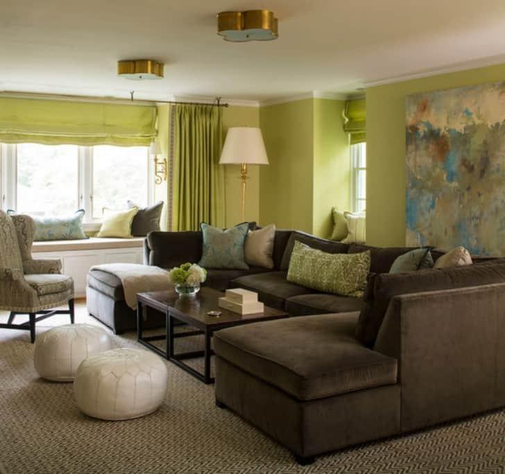 Yaşayan yeşil kahverengi kanepeler