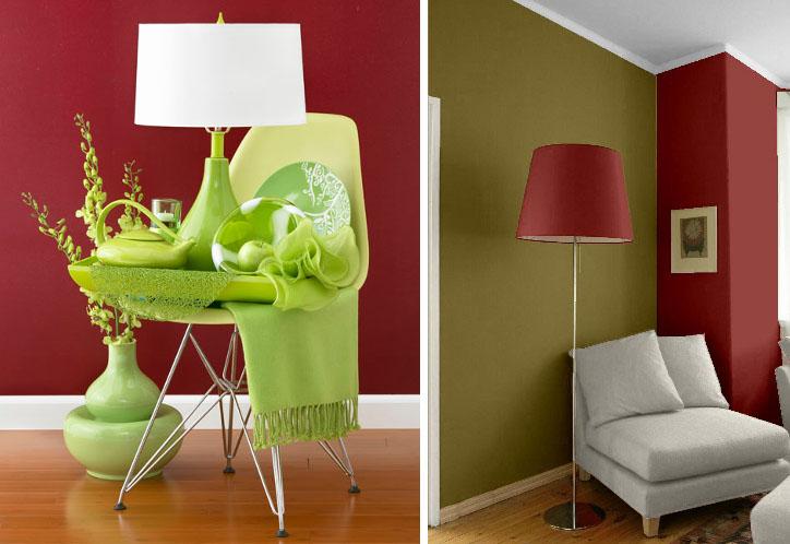Tahta ve yeşil dekorasyon