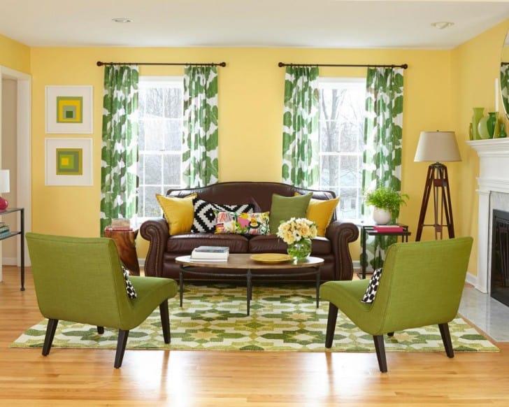Sarı ve yeşil oda
