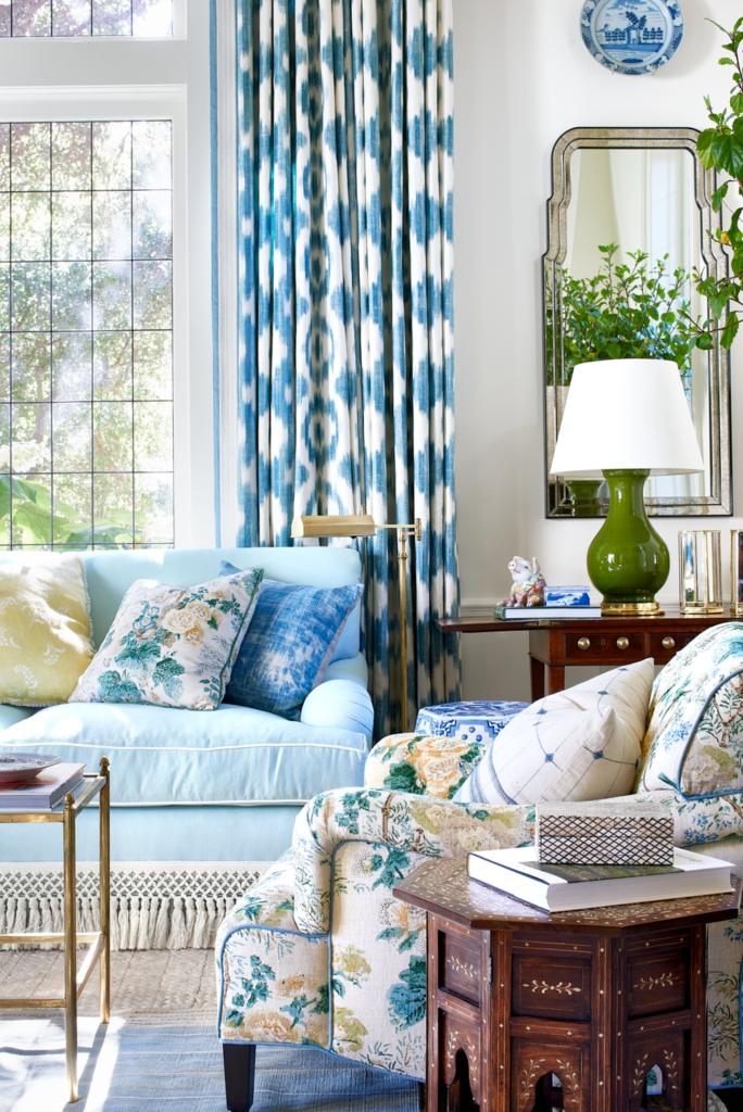 oturma odası mavi yeşil renkler dekorasyon fikirleri ilham fotoğrafları 2019